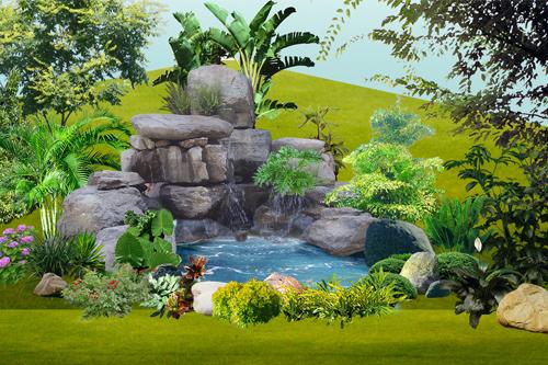 园林景观知识_庭院假山的设计与营建_美丽田园园林|省