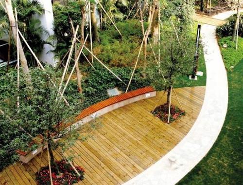 园林景观知识_景观设计中的景观铺装